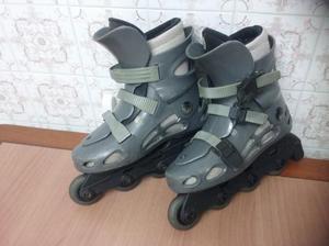 Patines en línea con 4 ruedas, color gris nº .-