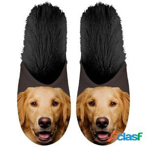Plenty Gifts Zapatillas animales golden retriever negro №