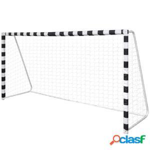 Portería De Fútbol De Acero Con Malla 300 x 90 x 160 cm