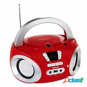 Radio cd fonestar boom-50r rojo - bt 4.0 - 2x2w - fm -