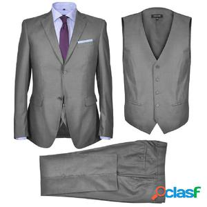 Traje de chaqueta de hombre 3 piezas talla 50 gris