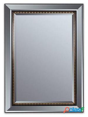 Wellindal Espejo Negro Oro Antiguo