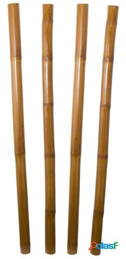 Wellindal Juego De 4 Cañas De Bambú