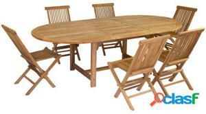 Wellindal Mesa Extensible y 6 sillas