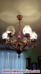 Lámpara de laton y cerámica
