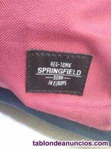 Mochila springfield nylon azul & morado sin uso