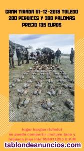 Tirada de 200 perdices y 300 palomas