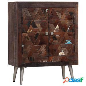 Aparador de madera maciza reciclada 60x30x76 cm