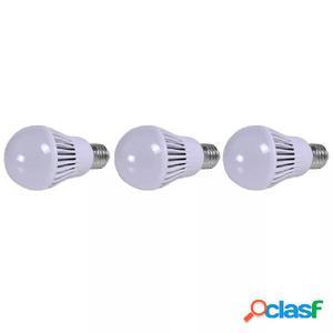 Bombilla LED, E27, 3 unidades, blanco cálido