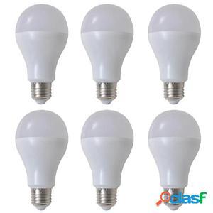 Bombilla LED, E27, 6 unidades, blanco cálido, 9 W