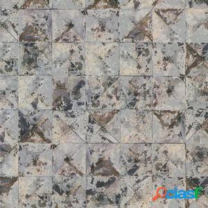DUTCH WALLCOVERINGS Papel de pared cuadrado/triángulo gris