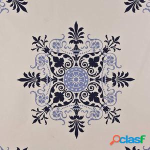 DUTCH WALLCOVERINGS Papel de pared diseño azulejo beige y
