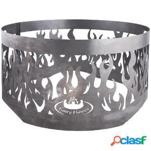 Esschert Design Aro de fuego para chimenea gris de acero