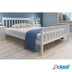 Estructura de cama de madera de pino maciza 140x200 cm