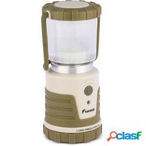 FAVOUR Lámpara de camping ADVENTURER 250 lm verde y beige