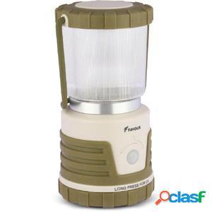 FAVOUR Lámpara de camping ADVENTURER 530 lm verde y beige