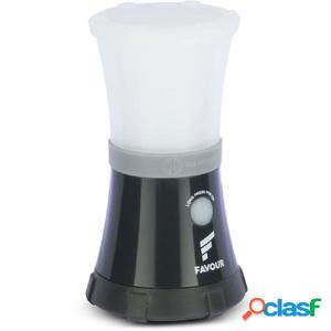 FAVOUR Lámpara de camping ADVENTURER blanca y negra L0717
