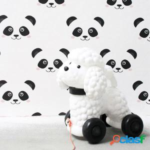 Fabulous World Papel de pared Panda blanco 67100