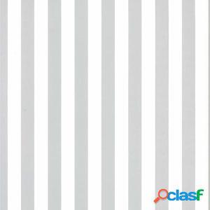 Fabulous World Papel de pared Stripes blanco y gris claro