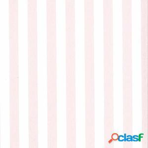 Fabulous World Papel de pared diseño Stripes blanco y rosa