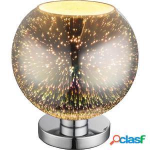 GLOBO Lámpara de mesa de efecto 3D KOBY vidrio cromado