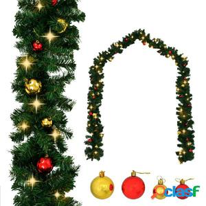 Guirnalda de navidad con bolas y luces LED 10 m