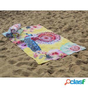 HIP Toalla de playa 5584-H Yelpea 100x180 cm amarilla