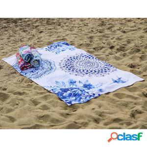 HIP Toalla de playa 6099-H Grande 100x180 cm azul