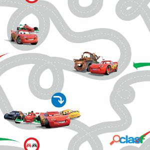 Kids at Home Papel de pared Cars Racetrack multicolor