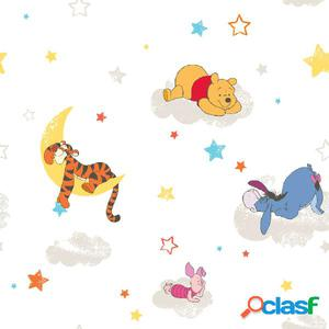 Kids at Home Papel de pared Pooh Rise and Shine blanco