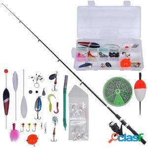 Kit 41 piezas de pesca con caña telescópica y carrete, 2.1