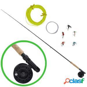 Kit nueve piezas pesca con caña de pescar telescópica y