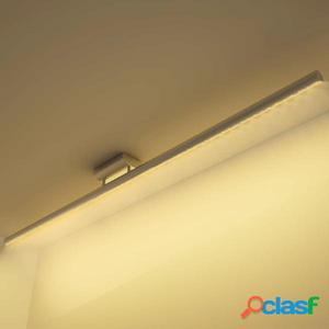 Lámpara de techo LED de acero inoxidable, blanco cálido 15