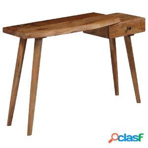 Mesa consola de madera maciza de acacia 115x35x76 cm
