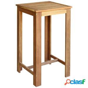 Mesa de bar de madera de acacia maciza 60x60x105 cm