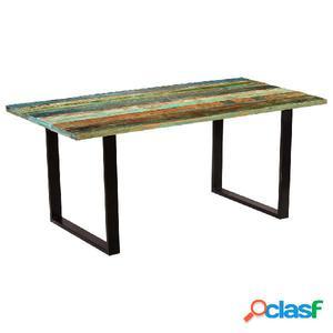 Mesa de comedor de madera maciza reciclada 180x90x77 cm