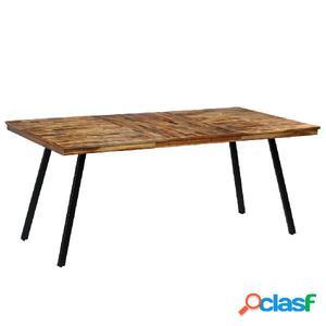 Mesa de comedor de teca reciclada y acero 180x90x76 cm