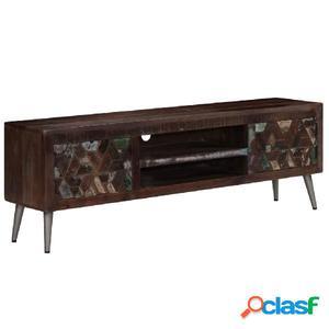 Mueble para TV de madera maciza reciclada 140x30x45 cm