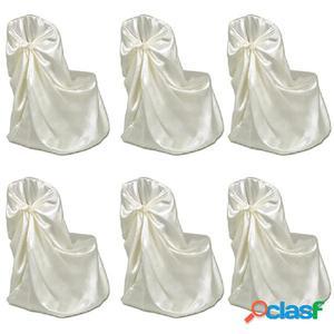 Set de 6 Fundas de color crema para sillas, banquetes y