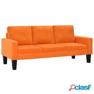 Sofá de 3 plazas de tela naranja