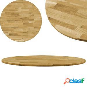 Superficie de mesa redonda madera maciza de roble 23 mm 400