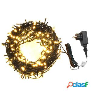 Tira de luces 600 LEDs interior exterior IP44 60m blanco
