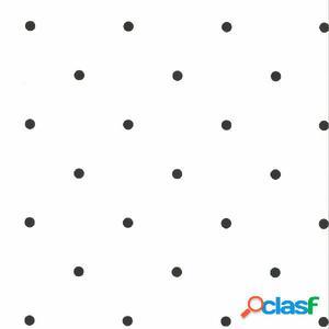 Fabulous World Papel de pared diseño Dots blanco y negro