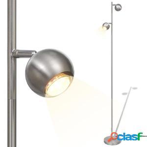 Lámpara de Pie con 2 Focos Esféricos y LED Incorporado 2 x