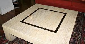 Mesa de marmol travertino moderna