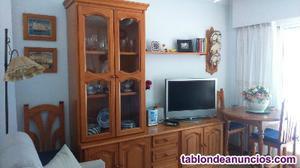 Mueble tv, mesa extensible y estantería provenzal
