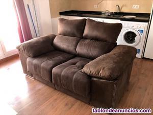 Sofa 2 plazas con extensor para pies (como nuevo)