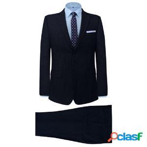 Traje de chaqueta de hombre 2 piezas azul marino rayado T46