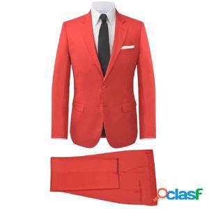 Traje de chaqueta de hombre 2 piezas rojo talla 48