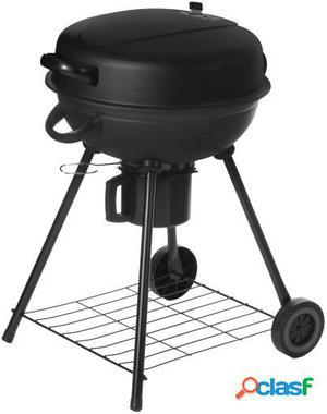 Wellindal Barbacoa carbón redonda con tapa acero